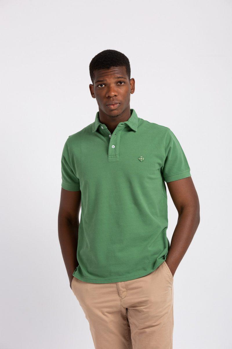 Polo verde oriented algodón 100%